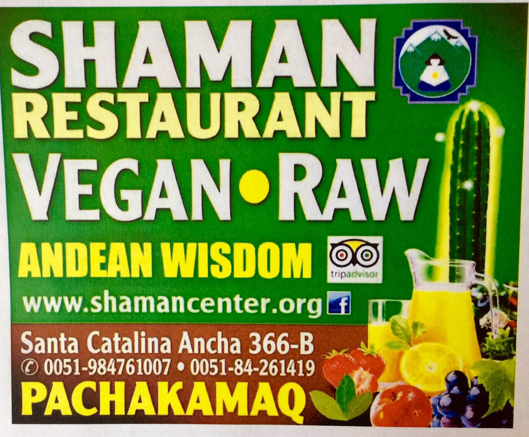 Shaman Restaurant Vegan Raw