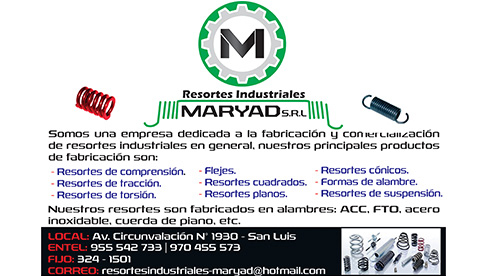Resortes Industriales Maryad E.I.R.L.